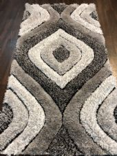 STUNNING RANGE 80X150CM RUGS/MAT TOP QUALITY GREY/CREAM/SILVER 3D SOFT PILE NEW